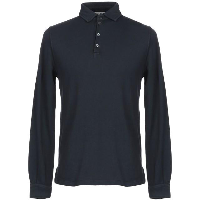《期間限定セール開催中!》ALPHA STUDIO メンズ ポロシャツ ダークブルー 46 コットン 95% / ポリウレタン 5%