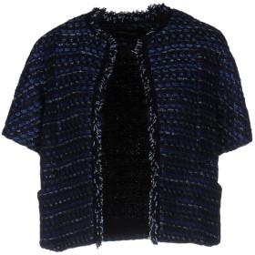 《セール開催中》FABRIZIO LENZI レディース テーラードジャケット ダークブルー 46 コットン 51% / ナイロン 20% / レーヨン 13% / ポリエステル 10% / 指定外繊維 6%