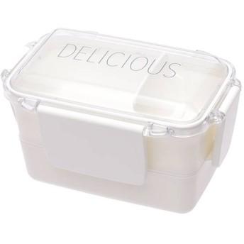 ふんわり盛れる弁当箱 2段 ホワイト 容量600ml ホームコーディ 2段 容量600ml(上:320ml・下280ml)