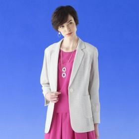 [マルイ]【セール】米沢織 変わり織りカラミ テーラードジャケット 【大きいサイズ】/リリアンビューティー(Liliane Burty)