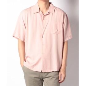 【50%OFF】アーバンリサーチリヨセルオープンカラーシャツ2メンズピンク40【URBAN RESEARCH】【セール開催中】