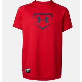 野球 ジュニア半袖Tシャツ UA BIG LOGO YOUTH BASEBALL SHIRT ボーイズ UNDER ARMOUR (アンダーアーマー) 1331538 600 600
