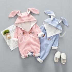 ベビー服 ロンパース カバーオール 新生児 赤ちゃん 帽子付き お出かけ 出産祝い 誕生日 ギフト