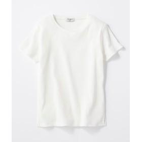 BACK NUMBER リブクルーネックTシャツ レディース オフシロ