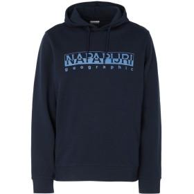 《期間限定セール開催中!》NAPAPIJRI メンズ スウェットシャツ ダークブルー S コットン 100% BEVORA H
