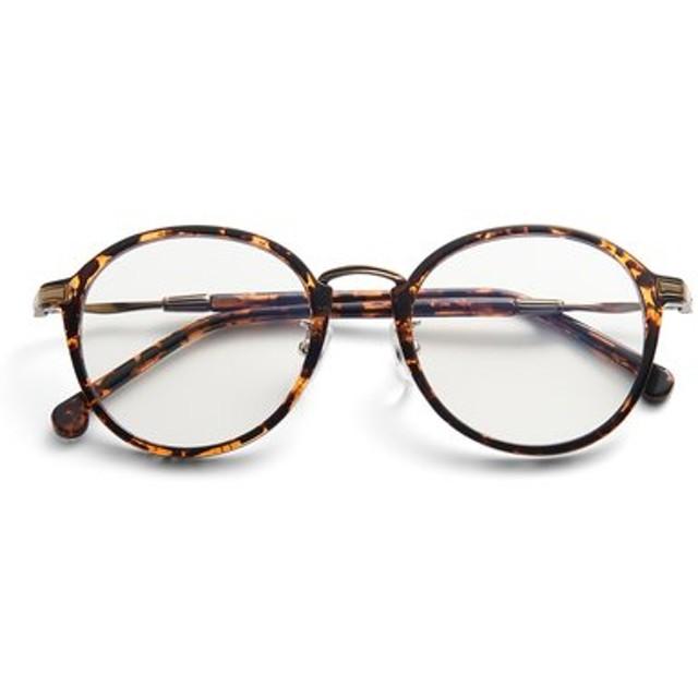 紫外線とブルーライトから瞳を守る 大人好みの眼鏡見えサングラス〈ブラウン〉 IEDIT[イディット] フェリシモ FELISSIMO【送料無料】