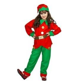 XINLIBRO Girls Santa Elf Fancy Dress Costumes女の子クリスマスエルフファンシードレスコスチューム (4-6)