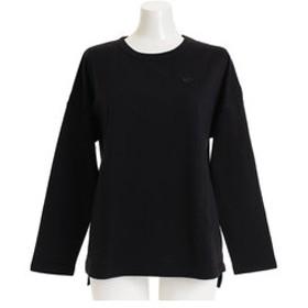 【Super Sports XEBIO & mall店:トップス】ワンポイント ロングスリーブ Tシャツ 864EK8UK2753BLK