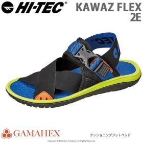 ハイテック HI-TEC メンズ/レディース サンダル KAWAZ FLEX ブラック/ブルー/ライム