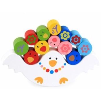 木製 バランス おもちゃ 玩具 とり 鳥 トリ 子供 キッズ 赤ちゃん ブロック 知育 教育 ギフト プレゼント