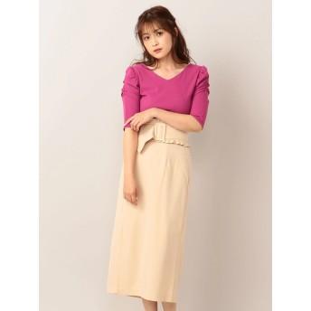 タイトスカート - MIIA フリルベルト付きタイトスカート