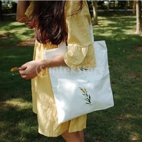 キャンバストートバッグハンドバッグ再利用可能な食料品の買い物袋