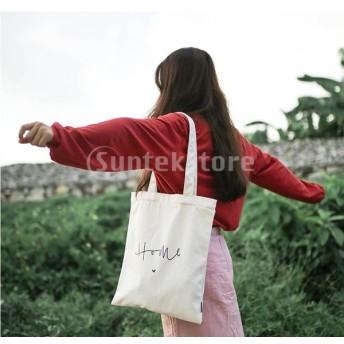 プレーンキャンバストートバッグハンドバッグ再利用可能な食料品の買い物袋