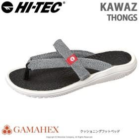 ハイテック HI-TEC メンズ/レディース サンダル KAWAZ THONGS ブラック/ホワイト