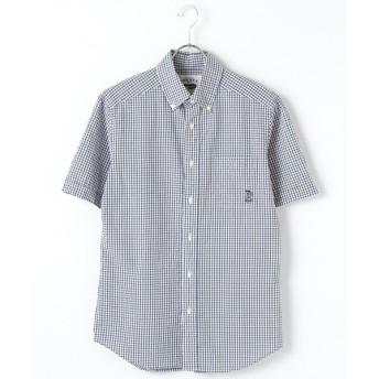 CRICKET / クリケット 2色チェックシアサッカー 半袖ボタンダウンカラーシャツ