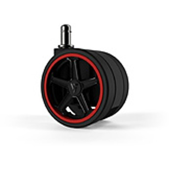 Vertagear Racing Series Opt Penta RS1 Casters 65mm (5pack) Red VG-CASRS1-65RD [65mm径キャスター/レッド/5個] オートブレーキ無し