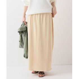 FRAMeWORK C/SI LONG スカート◆ ベージュ フリー