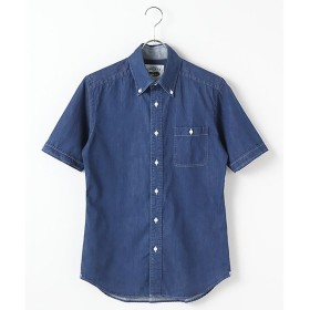 CRICKET / クリケット インディゴ染め・半袖ボタンダウンシャツ