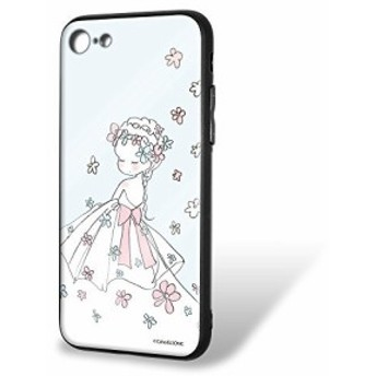 Caho iPhone8 ケース ガラスプリントTPU ウェディングC (ch-013) スマホケース カバー WN-LC535585