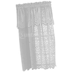 1パネル刺繍レースウィンドウボイル薄手のカーテン層74x90cm
