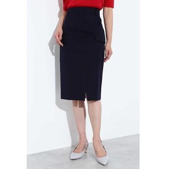 BOSCH / ボッシュ [ウォッシャブル]ポケット付きラップ調スカート