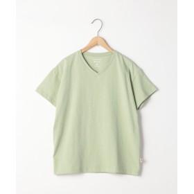 【32%OFF】 コーエン USAコットンリラックスVネックTシャツ レディース LIME M 【coen】 【タイムセール開催中】