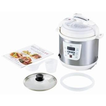 D&S 家庭用マイコン電気圧力鍋2.5g■直送品(他の商品と同梱不可)【家電製品】
