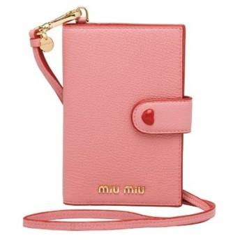 ミュウミュウ MIU MIU マドラス レザー 財布(5MV017 2BC3 F0028)ピンク 長財布