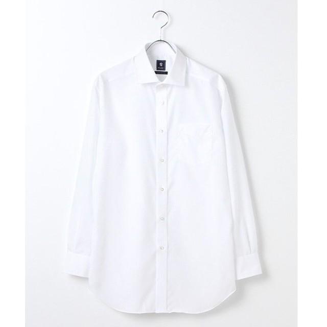 CRICKET / クリケット 「Cricket」クリケットオリジナル 綿100%イージーケア加工 ストライプ織り柄 ワイドカラーシャツ