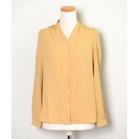 シャツ - ShopNikoNiko 春新作 ノーカラーシャツ ma トップス シャツ ノーカラー とろみ シンプル 大人 上品 レディース 韓国ファッション