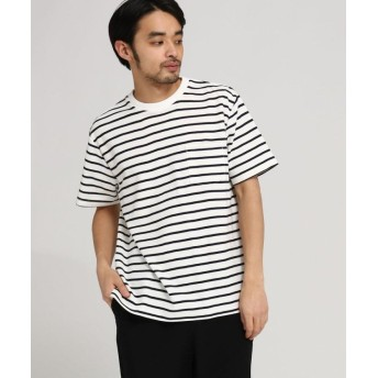 【30%OFF】 ベースステーション カノコ編立衿 BIG Tシャツ メンズ アイボリー(104) 02(M) 【BASE STATION】 【セール開催中】
