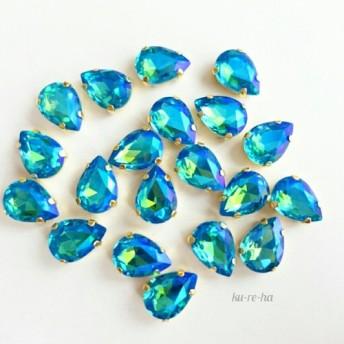 〖4個〗高品質◇ABカラーブルー◇ドロップ型