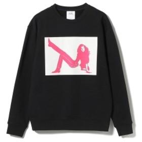 Calvin Klein Jeans ESTABLISHED.1978 / BROOKE スウェットシャツ メンズ スウェット BLACK/FUCHSIA L