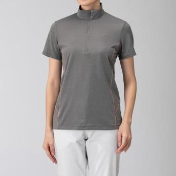 MIZUNO SHOP [ミズノ公式オンラインショップ] ドライベクター半袖ZIPシャツ[レディース] 05 グレー B2MA9261