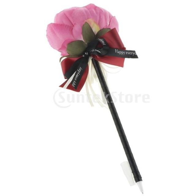 絹の花のゲストブックの署名ペン結婚式の宴会パーティー用品