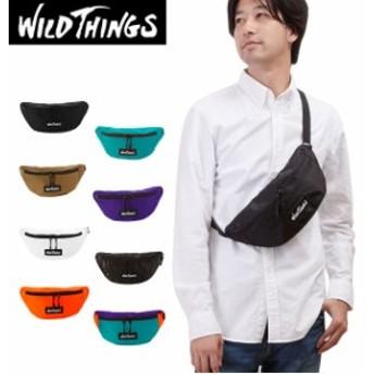ウエストバッグ WILD THINGS ワイルドシングス  通販 ボディバッグ メンズ レディース ナイロン ショルダーバッグ 斜めがけ ななめ掛け