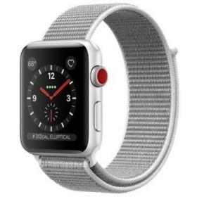 【平日15時・土曜14時まで当日出荷】 Apple Watch Series 3 GPS+Cellularモデル 42mmシルバーアルミニウムケースとシーシェルスポーツループ【ラッピング可】