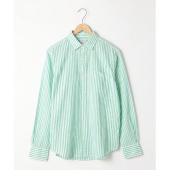 【50%OFF】 コーエン 綿麻ストライプレギュラーカラーシャツ メンズ KELLY M 【coen】 【セール開催中】