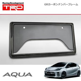 TRD GRカーボンナンバーフレーム リヤ用 アクア NHP10 NHP10H 11/12〜 除く字光式ナンバープレート付車