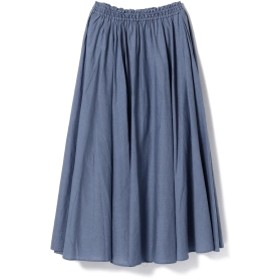 ne Quittez pas / コットンリネン ロングスカート レディース マキシ・ロング丈スカート BLUE ONE SIZE