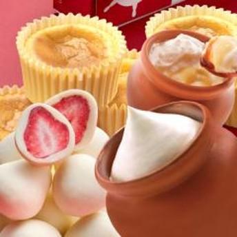 壷プリンとチーズケーキと苺トリュフのセット