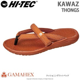 ハイテック HI-TEC メンズ/レディース サンダル KAWAZ THONGS オレンジ