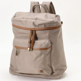 バッグ カバン 鞄 レディース リュック 収納上手◎クッションポケット付ナイロンリュック カラー 「グレージュ」