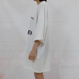 eec14ee30b3ce9 Tシャツ - luby 春夏新作 Tシャツ トップス カットソー プリント ホワイト ブラック 韓国ファッション
