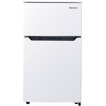Hisense HR-B95A ホワイト [冷蔵庫 (93L・右開き・2ドア)]【あす着】