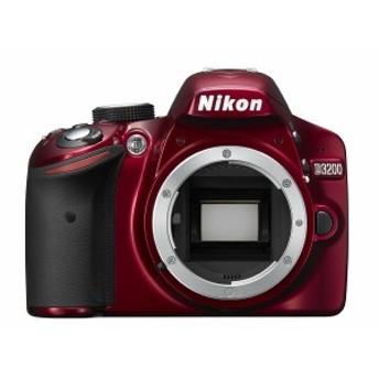 デジタル一眼レフ 中古 Nikon ニコン D3200 レッド ボディ