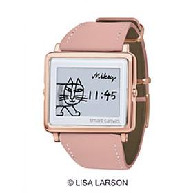 スマートキャンバス「Lisa Larson Mikey」スムースレザーピンク W1-LL20110