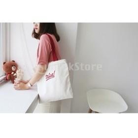 女性のキャンバストート大容量ハンドバッグレタープリントショルダーバッグ