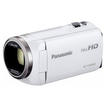 パナソニック ビデオカメラ HC-V360MS-W ホワイト 店頭展示品・付属品すべて有り・状態良好 おまけ付