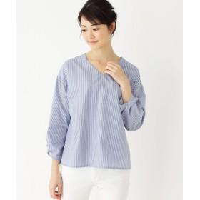 SHOO・LA・RUE/DRESKIP(シューラルー/ドレスキップ) 【防シワ】コットンVネックシャツ